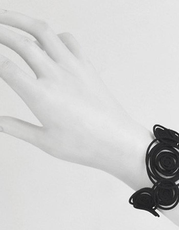 HULA HOOP Black Bracelet • RARO Jewellery