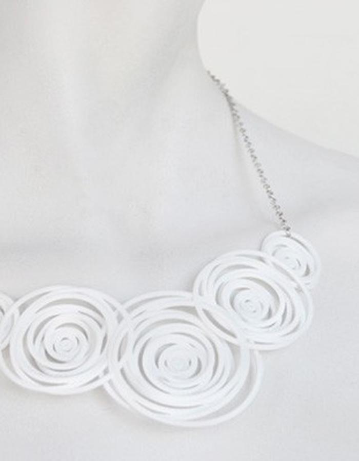 HULA HOOP White Necklace • RARO Jewellery