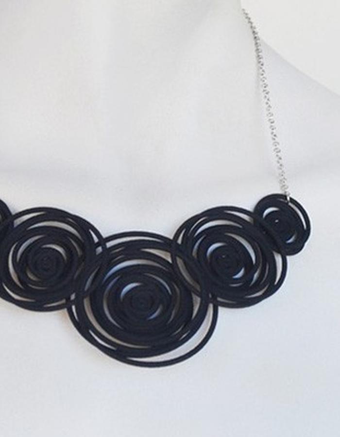 HULA HOOP Black Necklace • RARO Jewellery