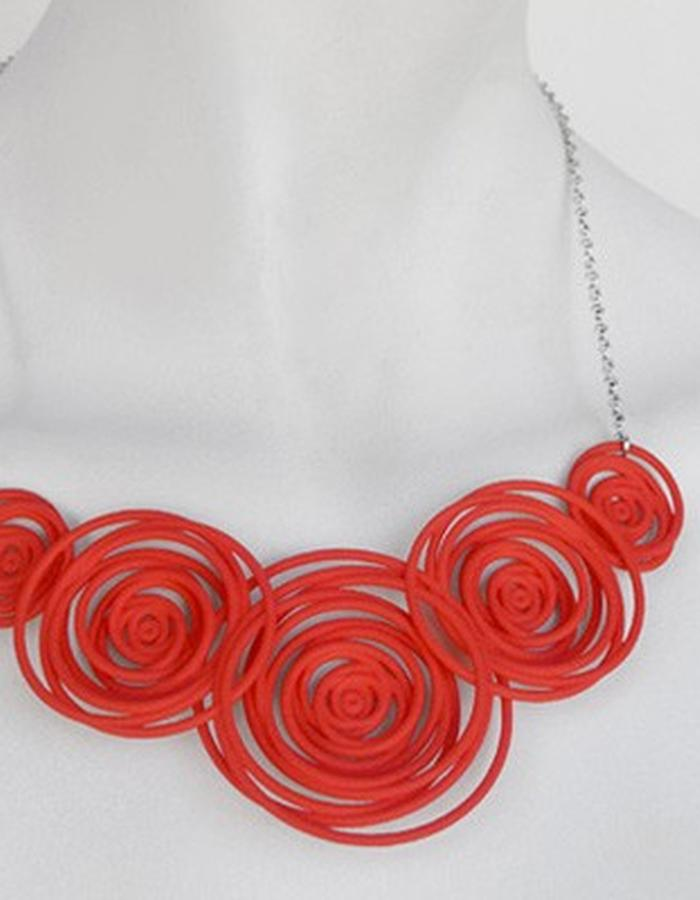 HULA HOOP Red Necklace • RARO Jewellery
