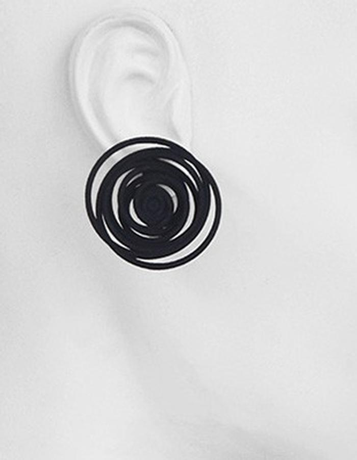 HULA HOOP Black Earrings • RARO Jewellery