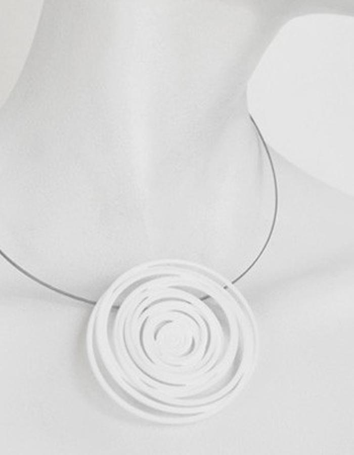 HULA HOOP White Pendant • RARO Jewellery