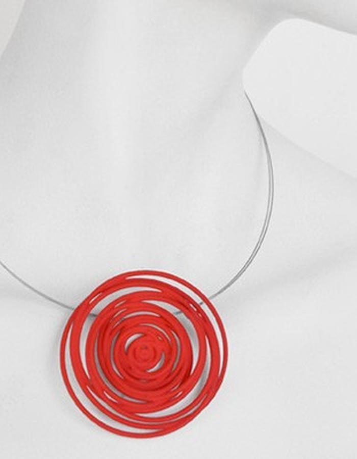 HULA HOOP Red Pendant • RARO Jewellery