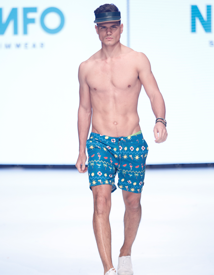 Summer Pixel Short on the runway during MBFWSJ 2017