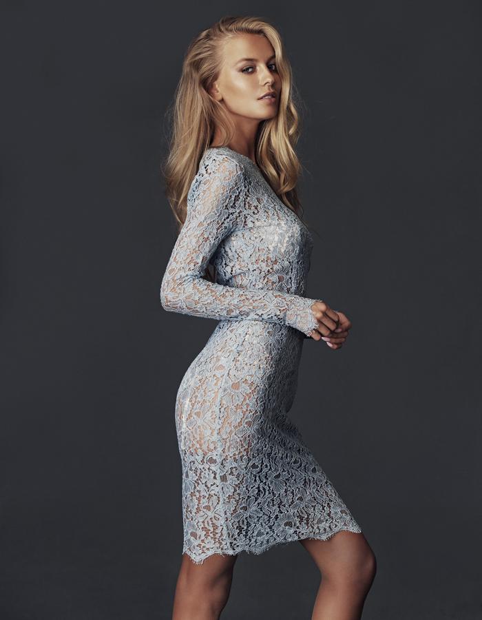 Grace Mid-Dress - Greige