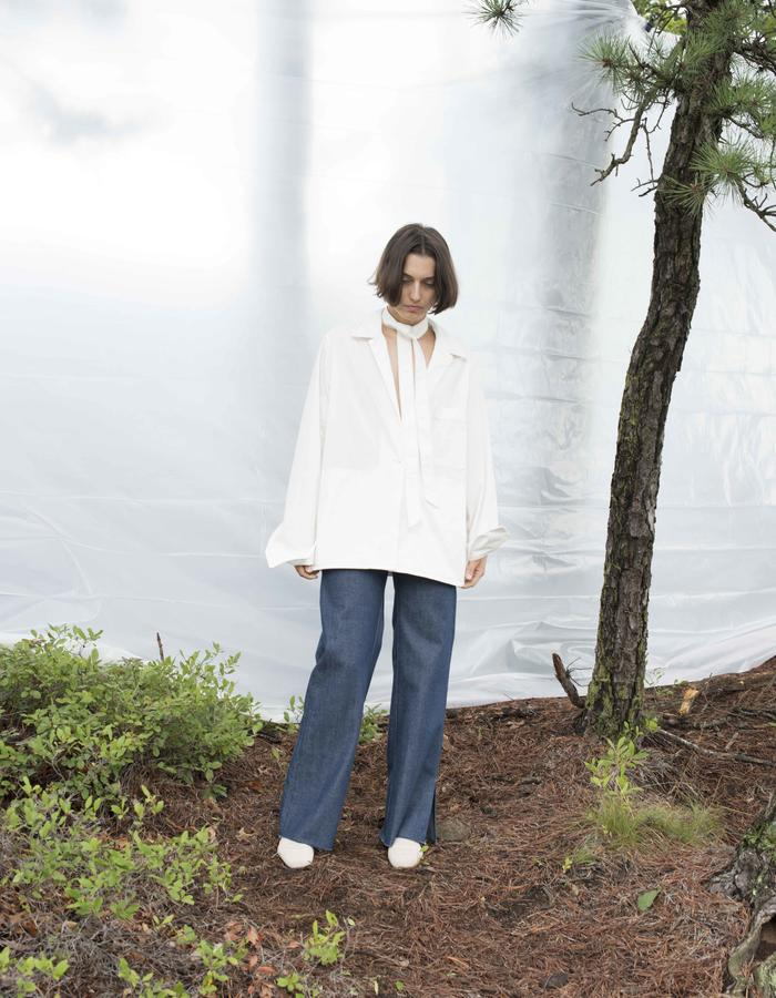 Toulon Poplin Shirtjacket, Piana Highwaisted Jeans