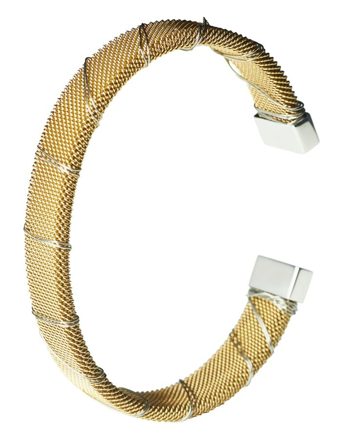 Gold Bound Steel Bangle (m)