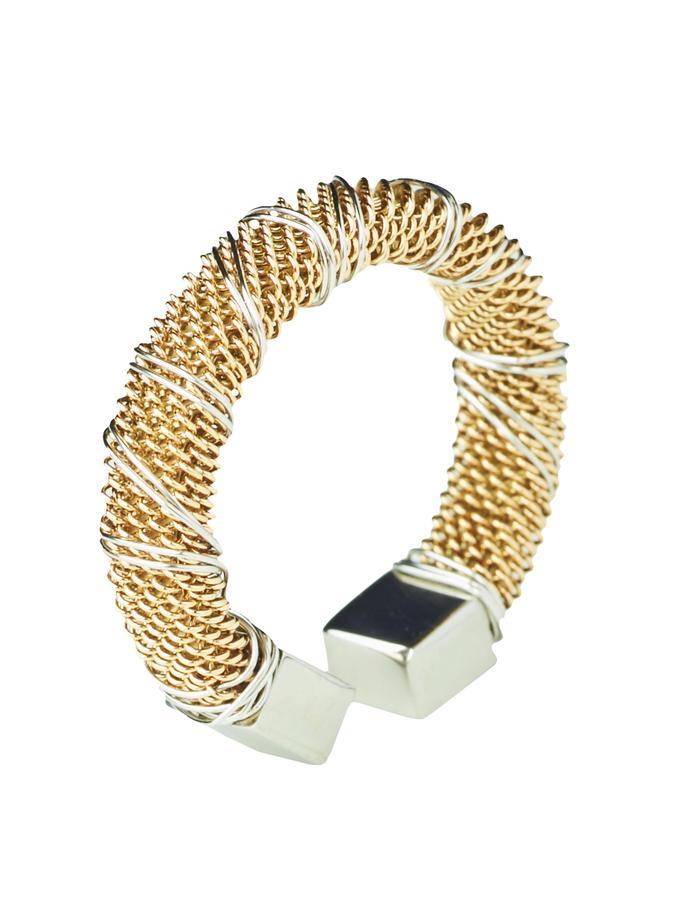 Gold Bound Steel Ring