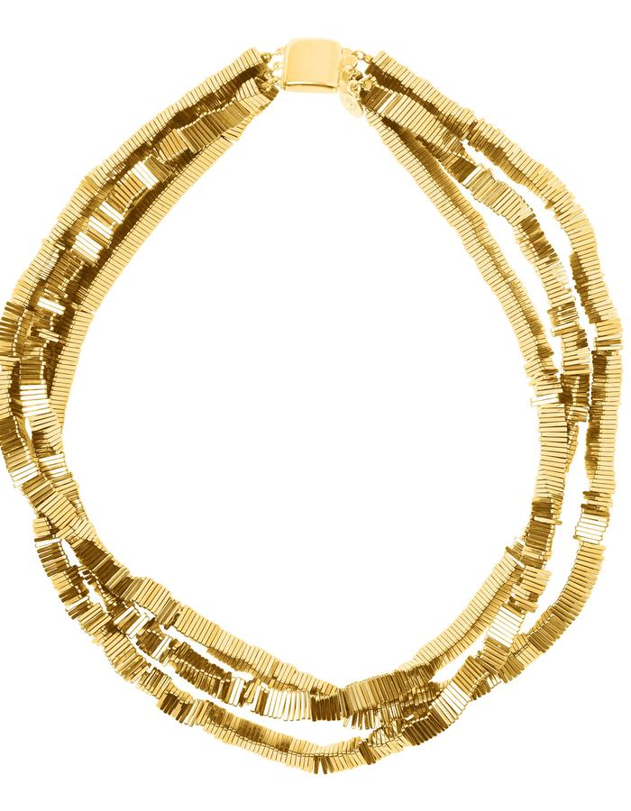 Electric Kinetic Gold Necklace