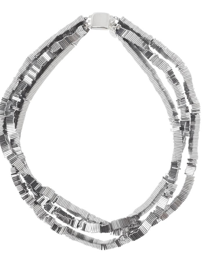 Electric Kinetic Silver Necklace