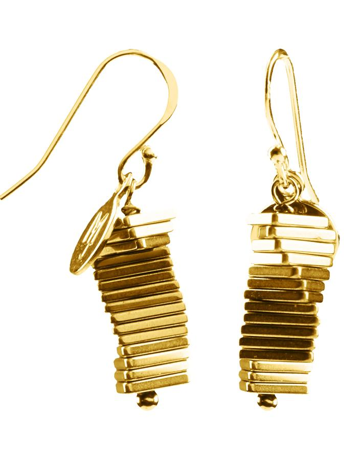 Electric Kinetic Gold Earrings (15)