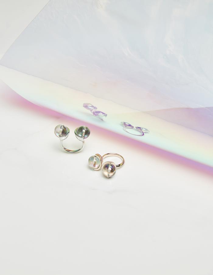 jittrakarn, jewellery, ring, swarovski, futuristic, design, iridescent, moon, collection