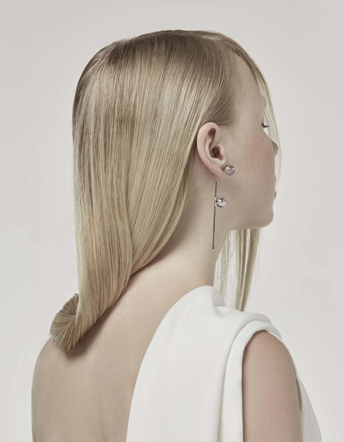 jittrakarn, jewellery, earrings, swarovski, futuristic, design, iridescent, moon, collection