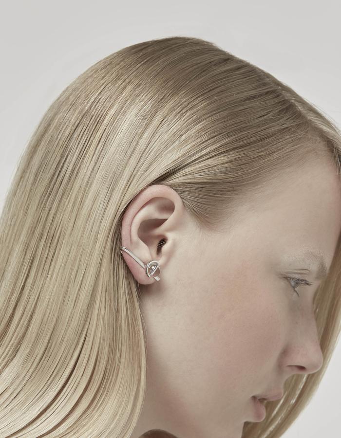 jittrakarn, jewellery, earrings, earcuff, swarovski, futuristic, design, iridescent, moon, collection