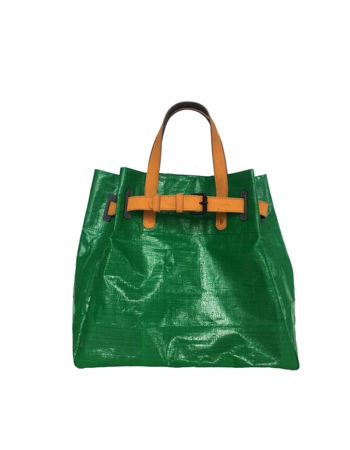 """Handmade Sustainable, made by combining recicle material and natural leather. higth 17"""", wide 16"""", deep 7"""""""