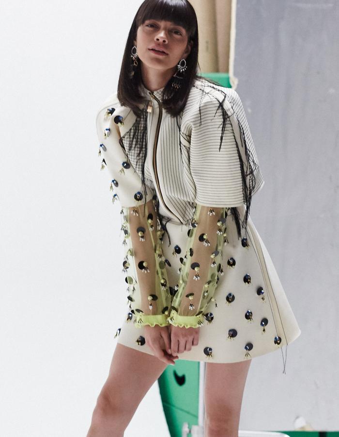 LONGSHAW WARD SS18 LOOK1b- embellished dress