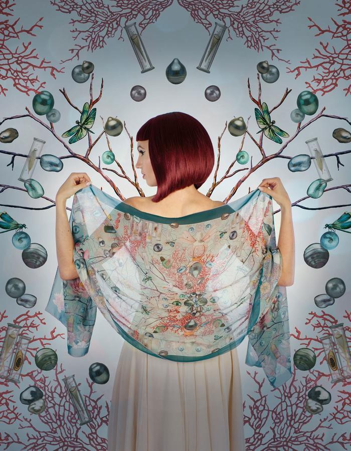 """""""eden"""" silk scarf by Fiona K. 180cm x 70cm, 100% silk"""