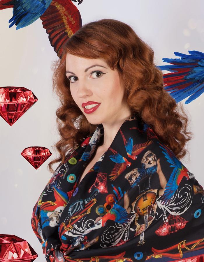 """""""crazy diamond""""scarf by Fiona K. 120cm x 120cm, 100% twill silk"""