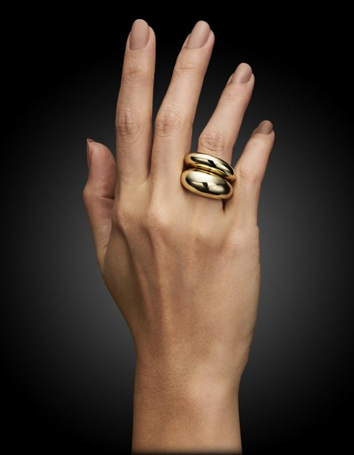 Two of Most Fine Jewelry - Bombe Ring Set