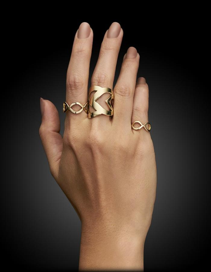 Two of Most Fine Jewelry - Large Triple Loop Ring Set