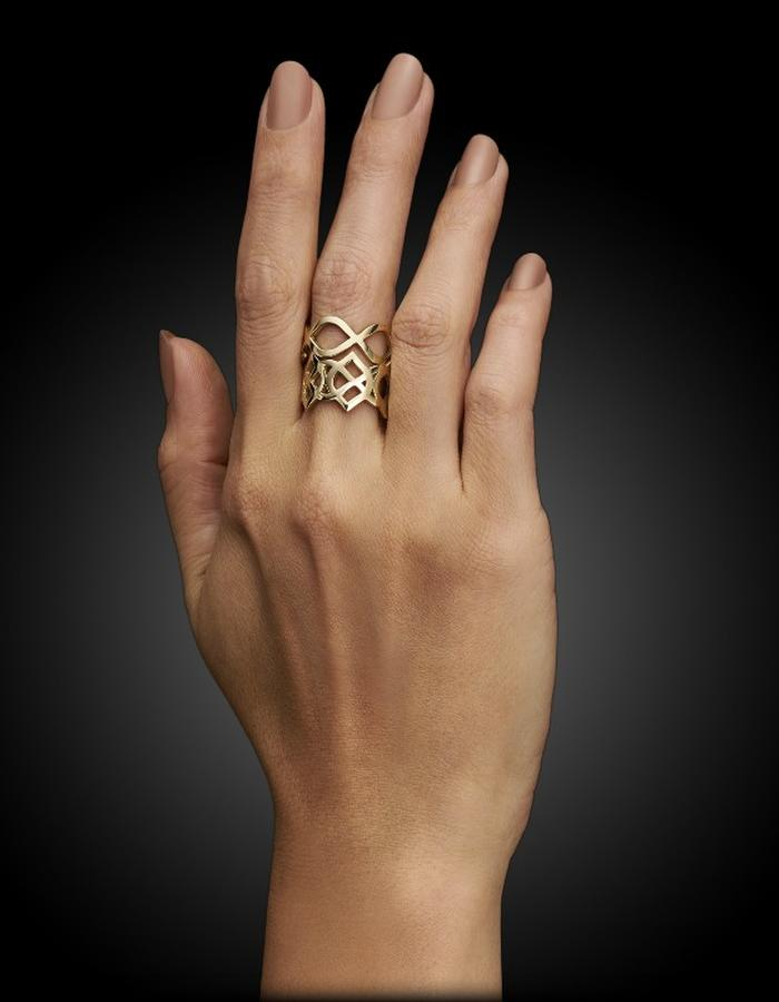 Two of Most Fine Jewelry - Loop Intersect Ring Set