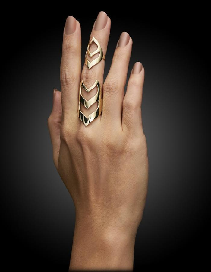 Two of Most Fine Jewelry - Loop Shield Ring Set