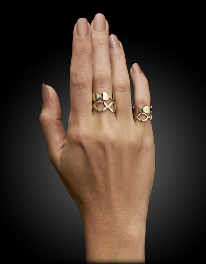 Two of Most Fine Jewelry - Mixed Loop Ring Set