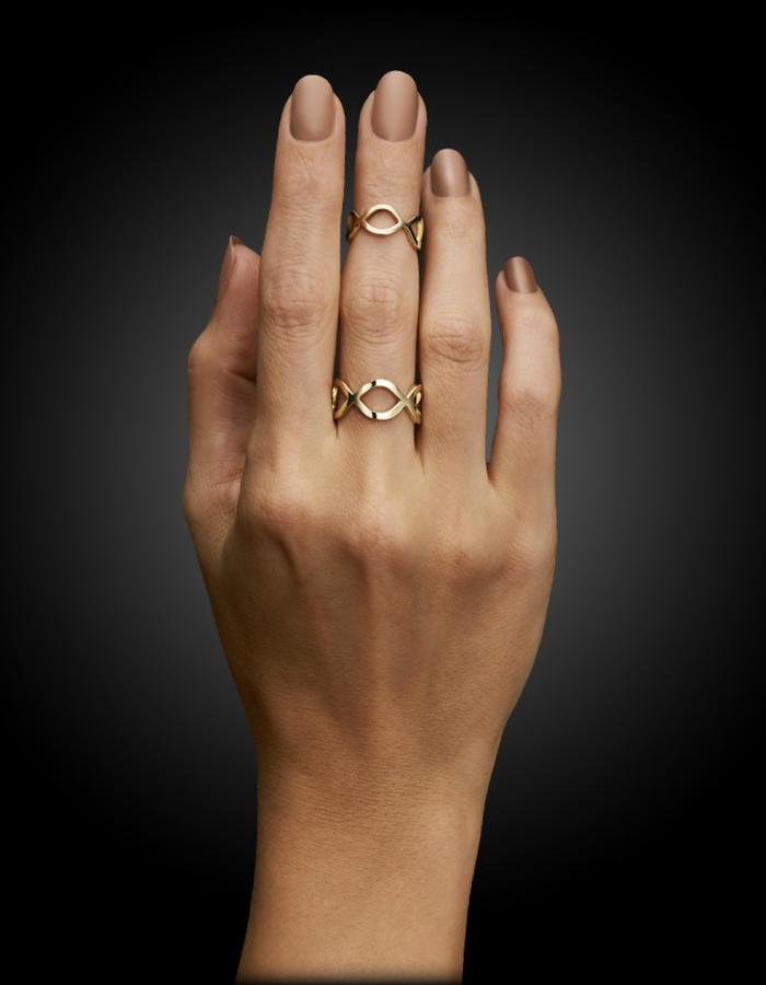Two of Most Fine Jewelry - Open Loop Ring Set