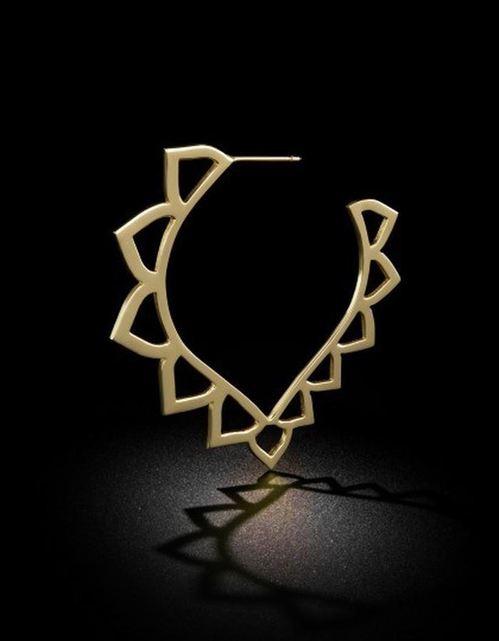 Two of Most Fine Jewelry - Open Loop V Hoop Earring