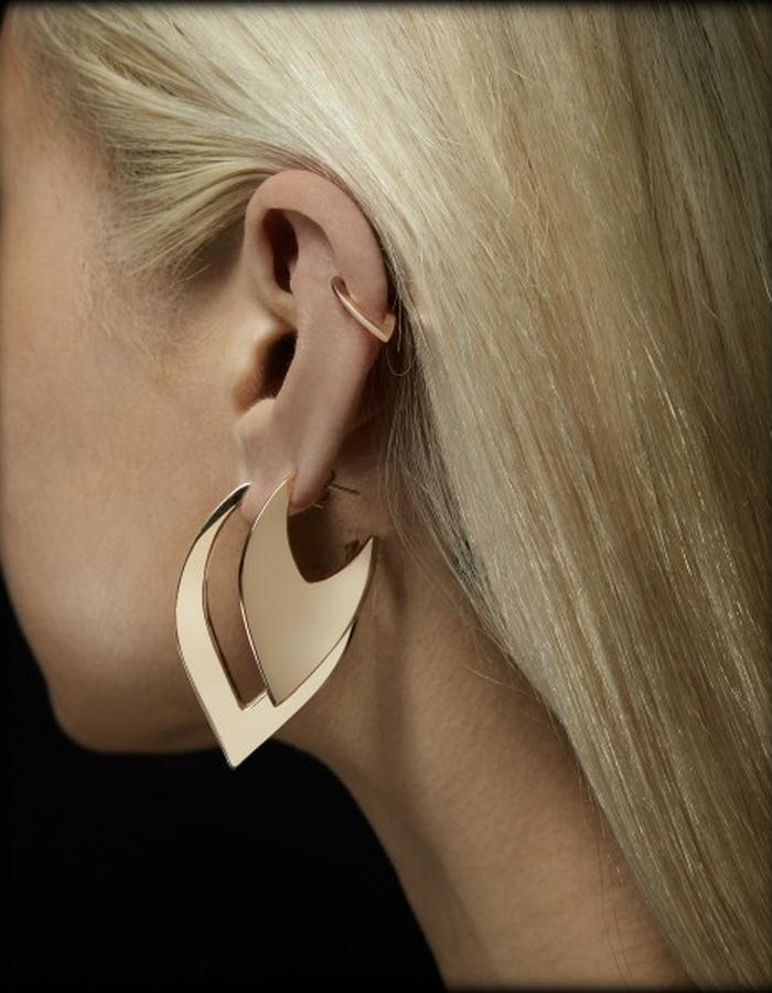 Two of Most Fine Jewelry - V Hoop Earring Set