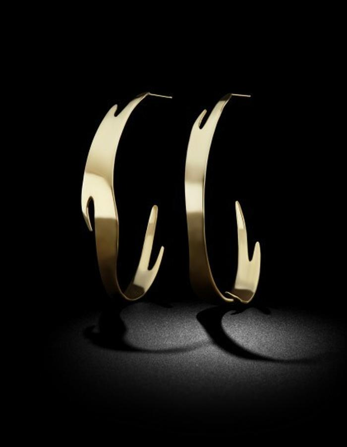Two of Most Fine Jewelry - Puzzle Hoop Earrings