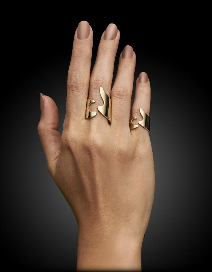 Two of Most Fine Jewelry - Puzzle Ring Set