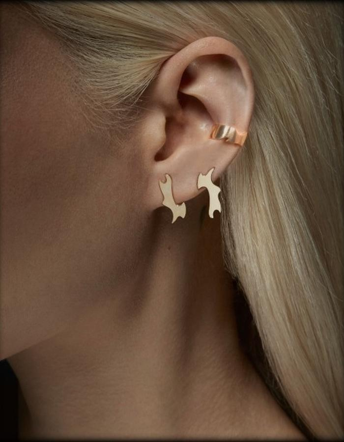 Two of Most Fine Jewelry - Puzzle Stud Earring Set