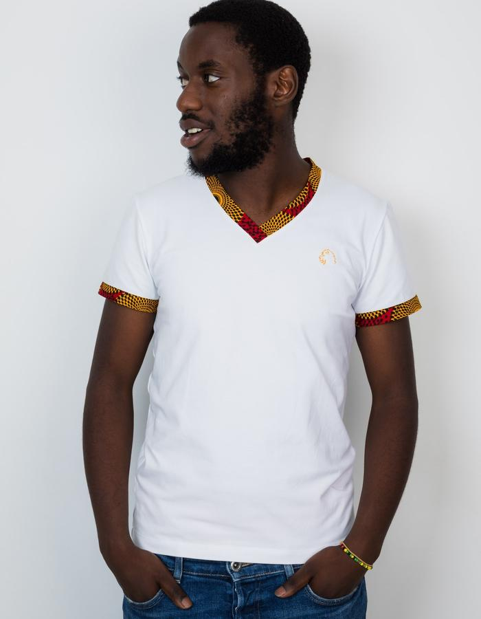 Aurum Fashions white t-shirt for men