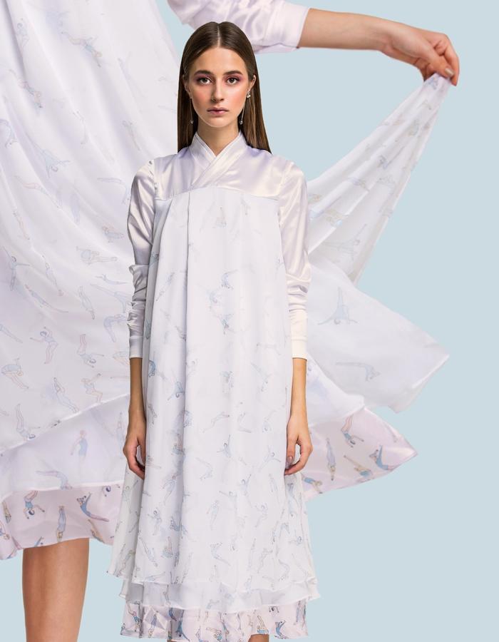 Silk hanbok-dress
