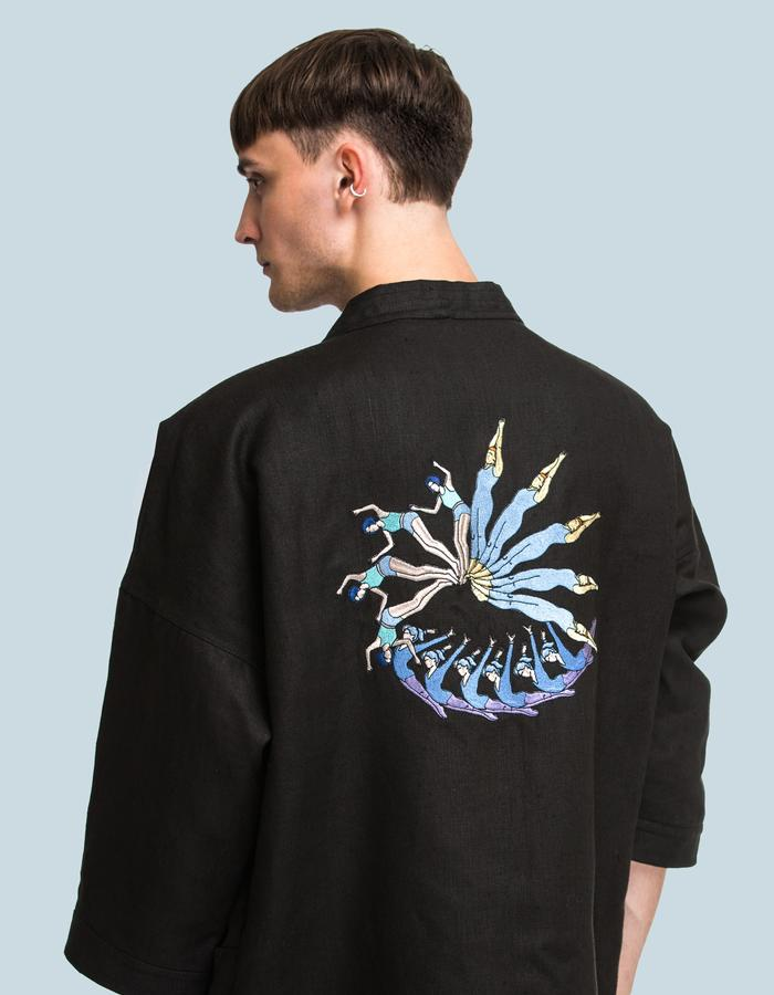 Golden ration embroidery kimono by FINCH