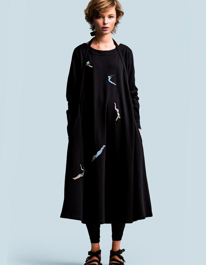 Jersey gymnast embroidery transformer dress by FINCH