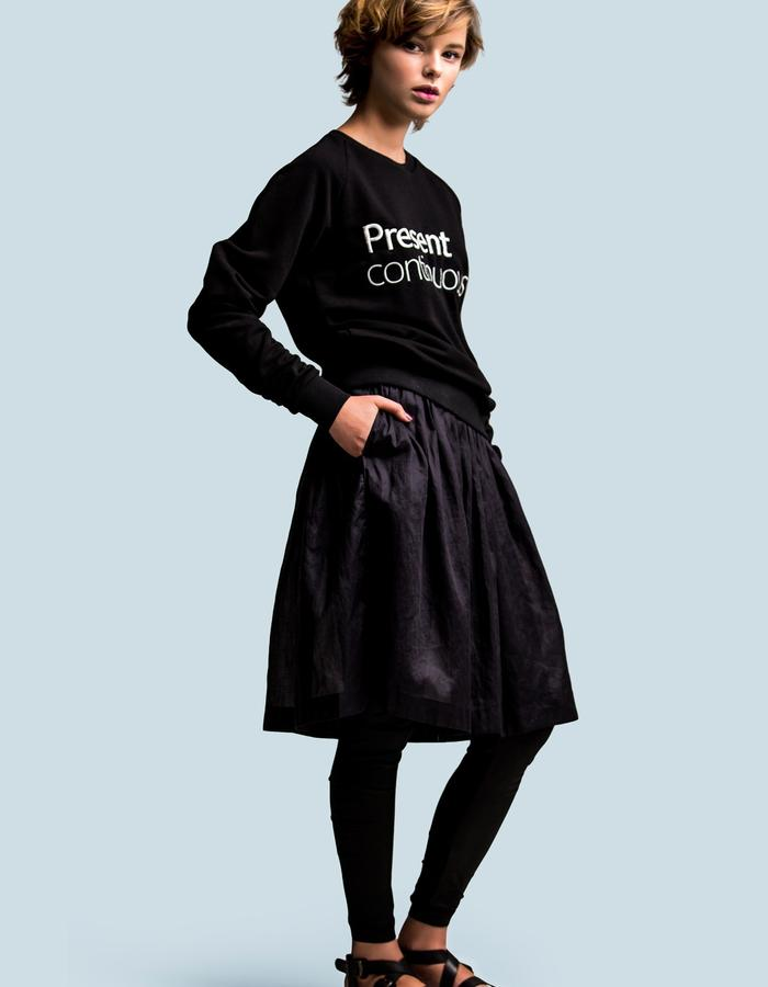 Present continuous embroidery sweatshirt by FINCH