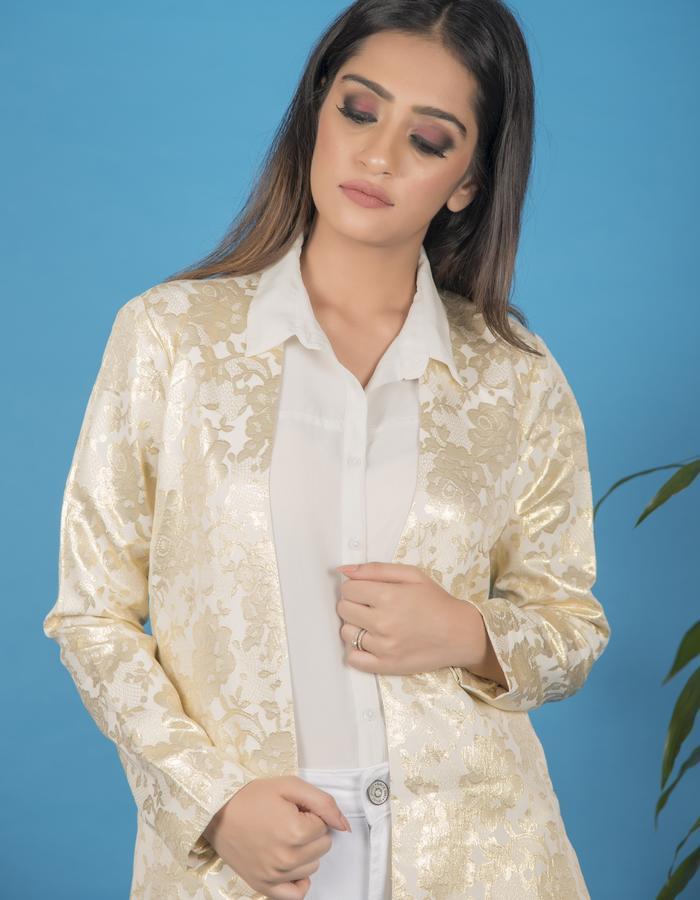 Gold foil jacket