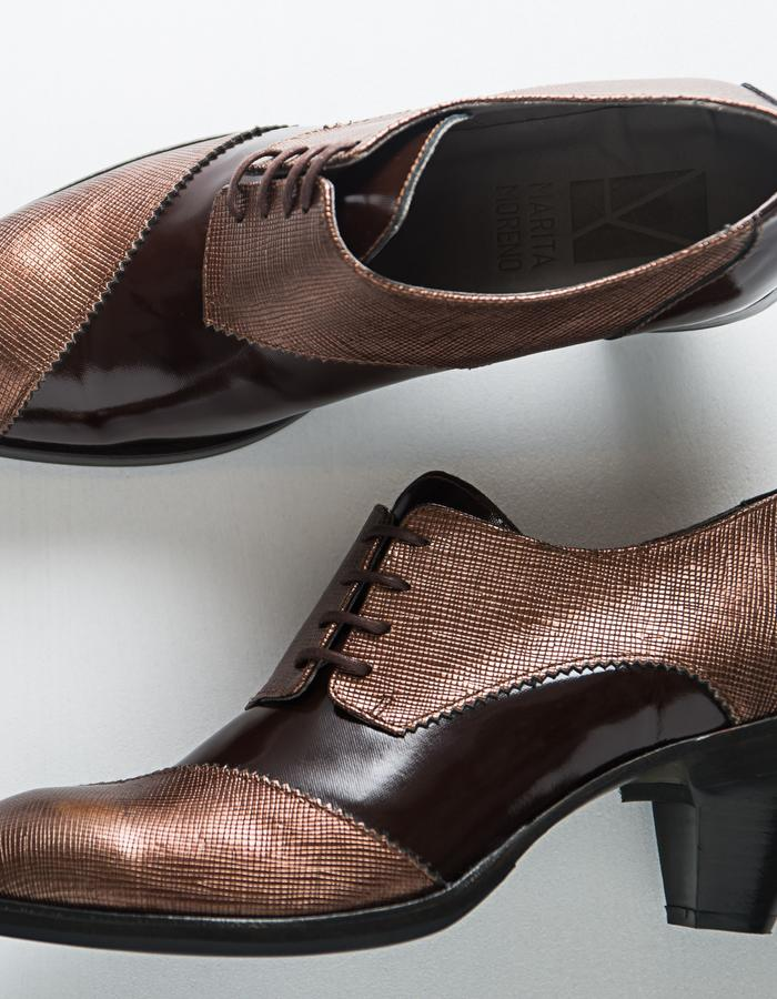 Dali Line Woman - Varnish leather, leather sole, leather lining