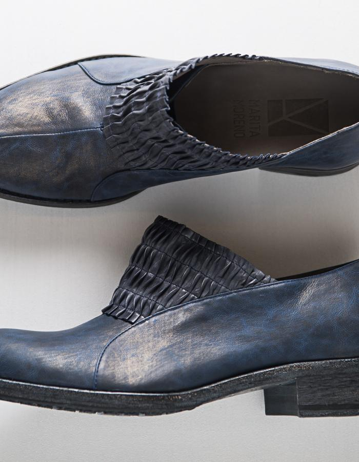 SHADOWS Line - Leather, leather lining, elastic and leather sole