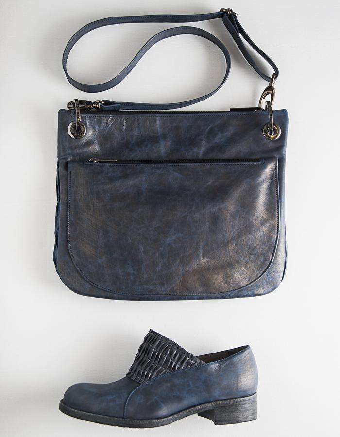 SHADOWS bag - Leather and cloth lining