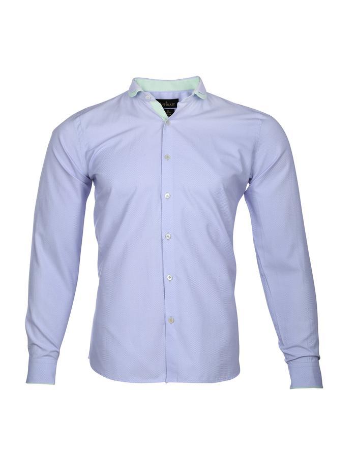 Hep Club Collar Pastel Purple Mens Shirt