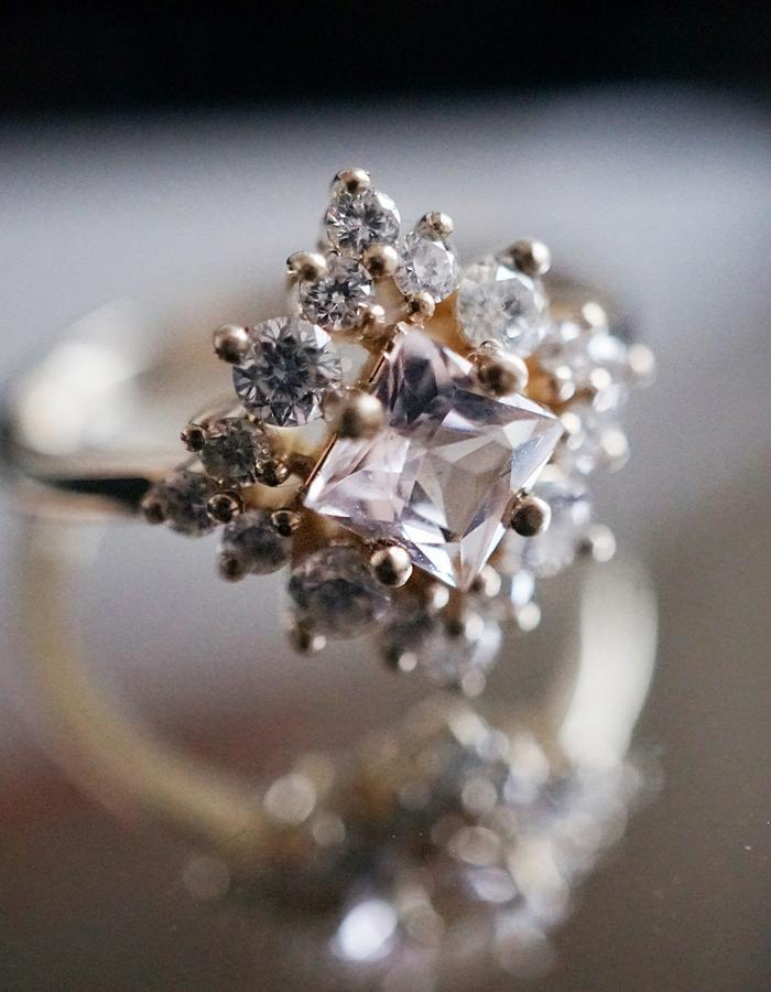 Aphrodite Morganite Diamond Ring designed by Tippy Taste