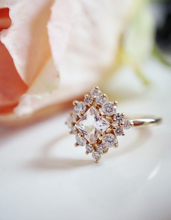Aphrodite Morganite Ring designed by Tippy Taste Jewelry