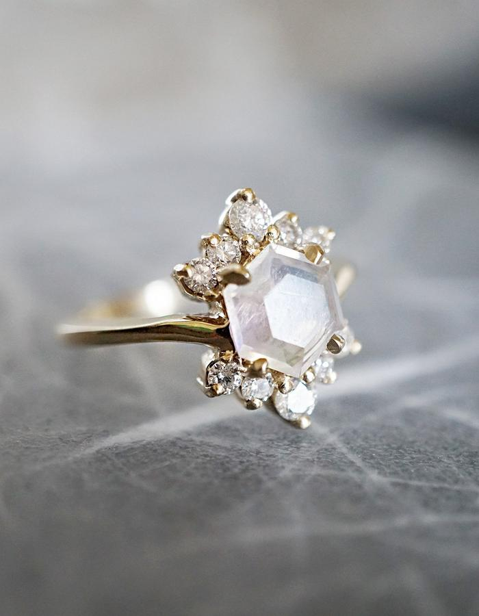 Rosie Moonstone Ring designed by Tippy Taste Jewelry