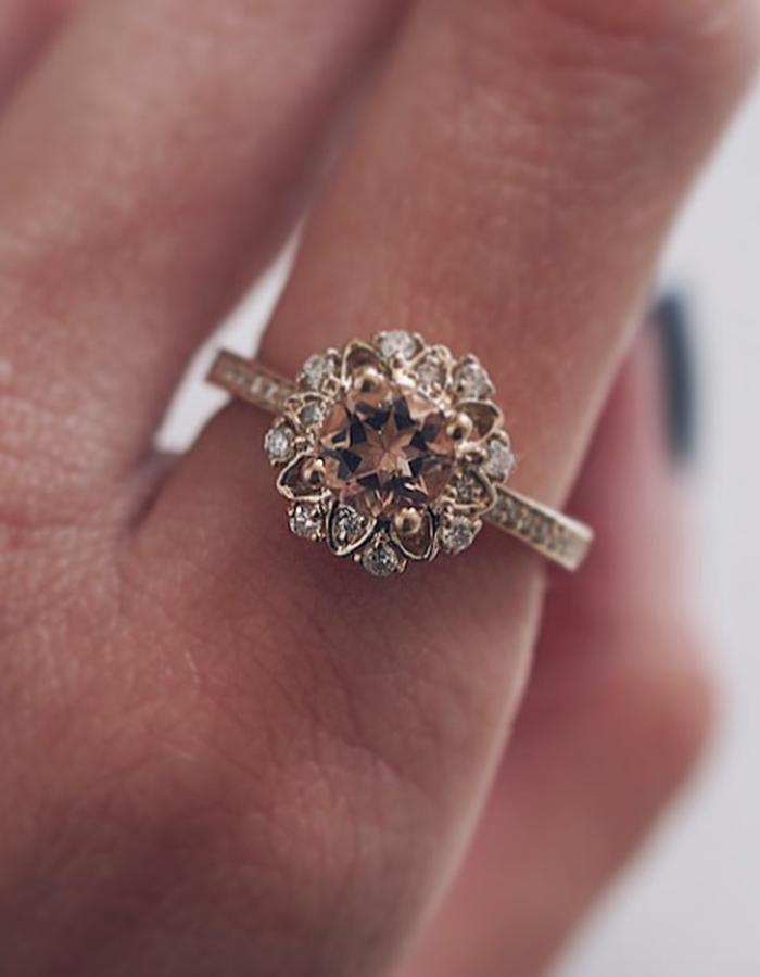 Alegra Diamond Ring designed by Tippy Taste Jewelry