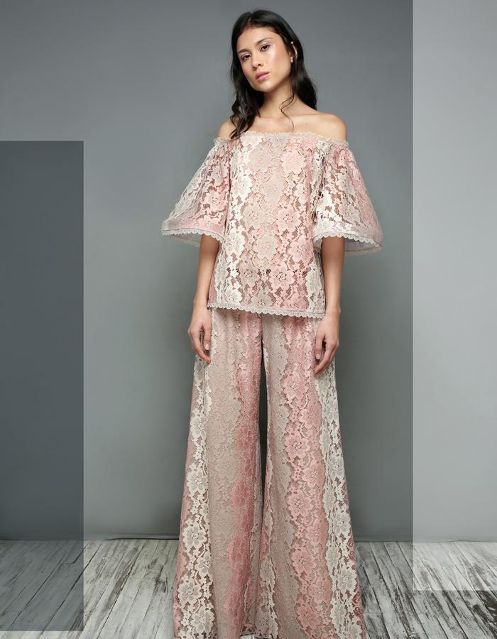 Boldlace Pants & Baleares lace Blouse
