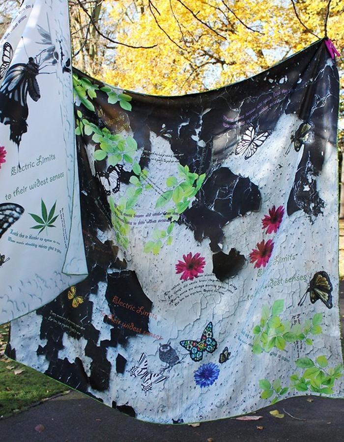 Poetry in Motion. Luxury Silk Scarves by Shandana