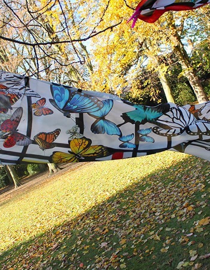 Mondrian's Butterfly. Silk Scarf